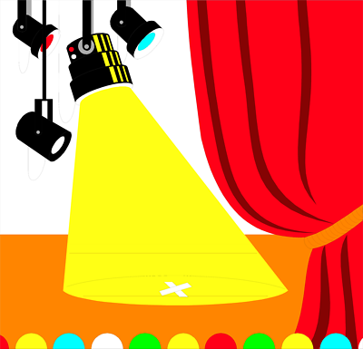 Cartoon spotlight clipart