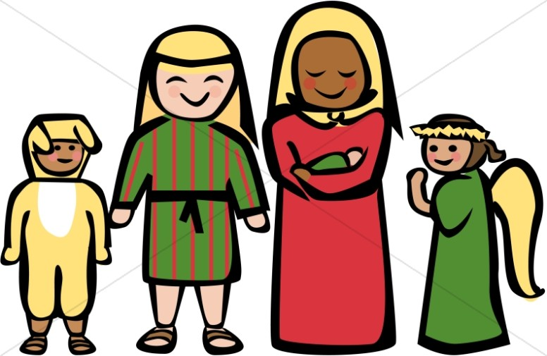 Childrens christmas play clipart 2