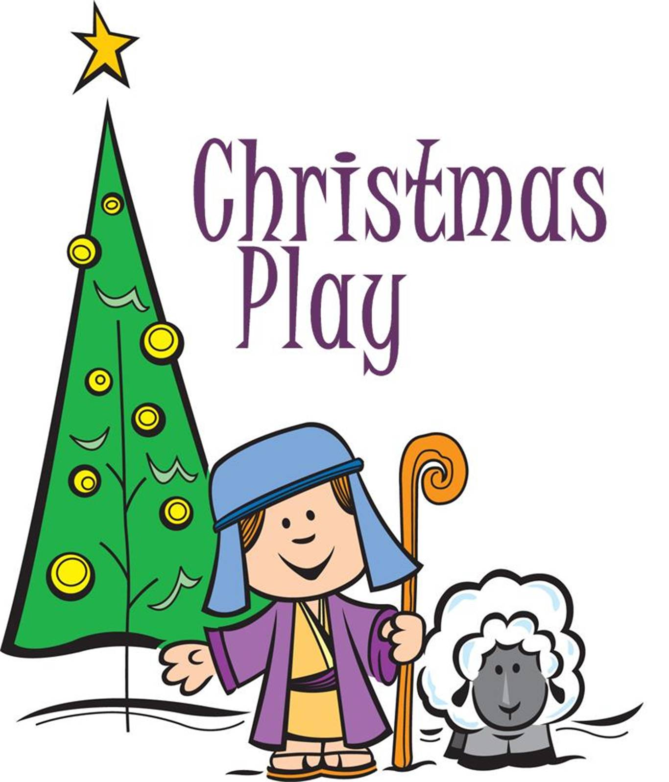 Childrens christmas play clipart