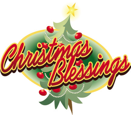 Christmas blessings clipart 2