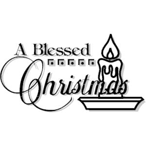 Christmas blessings clipart 4
