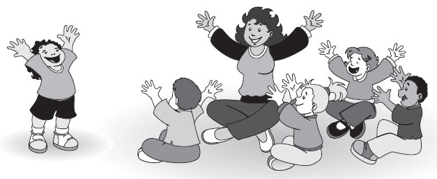 Circle time clipart black and white