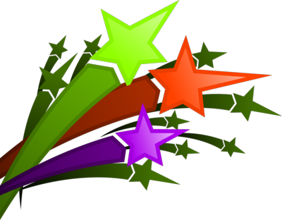 Clipart images of shooting stars