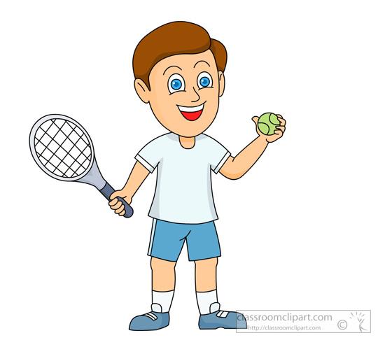 Clipart play tennis