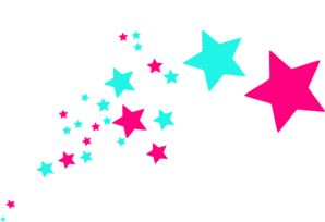 Colorful shooting stars clipart 2