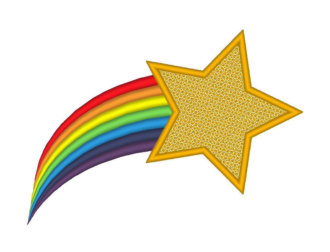 Colorful shooting stars clipart
