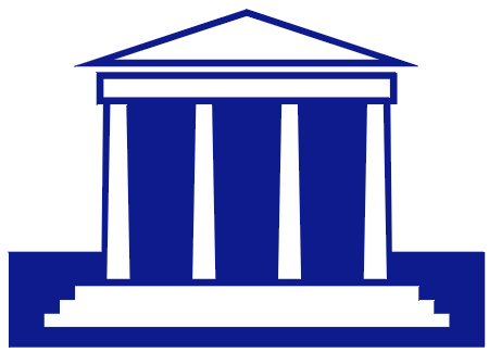Courthouse bank branch clipart
