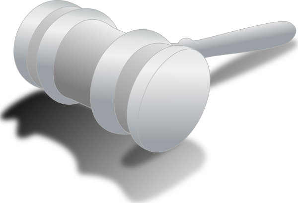 Courthouse court hammer clipart