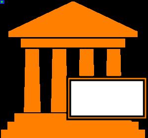 Courthouse hot orange clip art at vector clip art