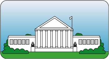 Courthouse judicial clipart