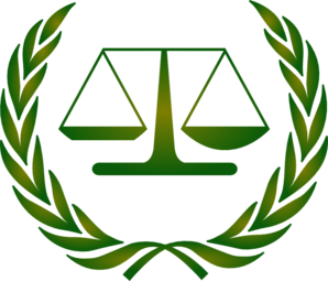 Courthouse scales of justice in a court house clipart 4