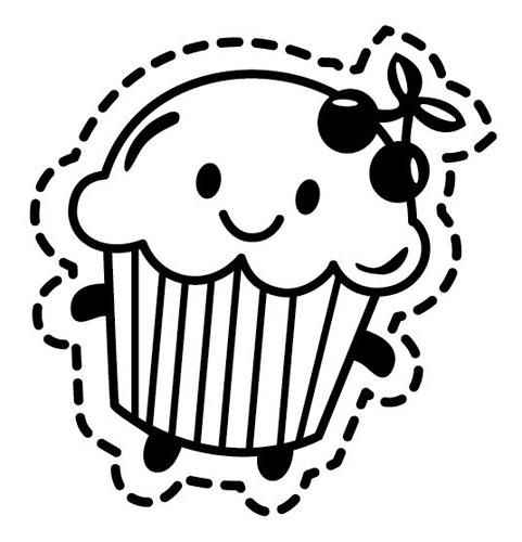 Cupcake outline 3 2