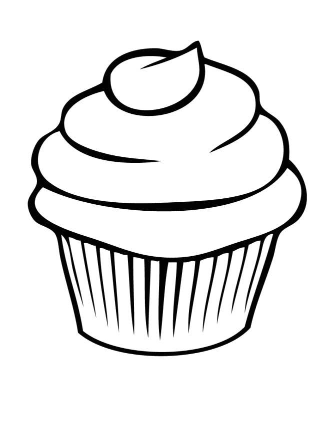 Cupcake outline 3