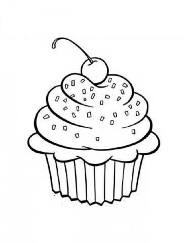 Cupcake outline 5