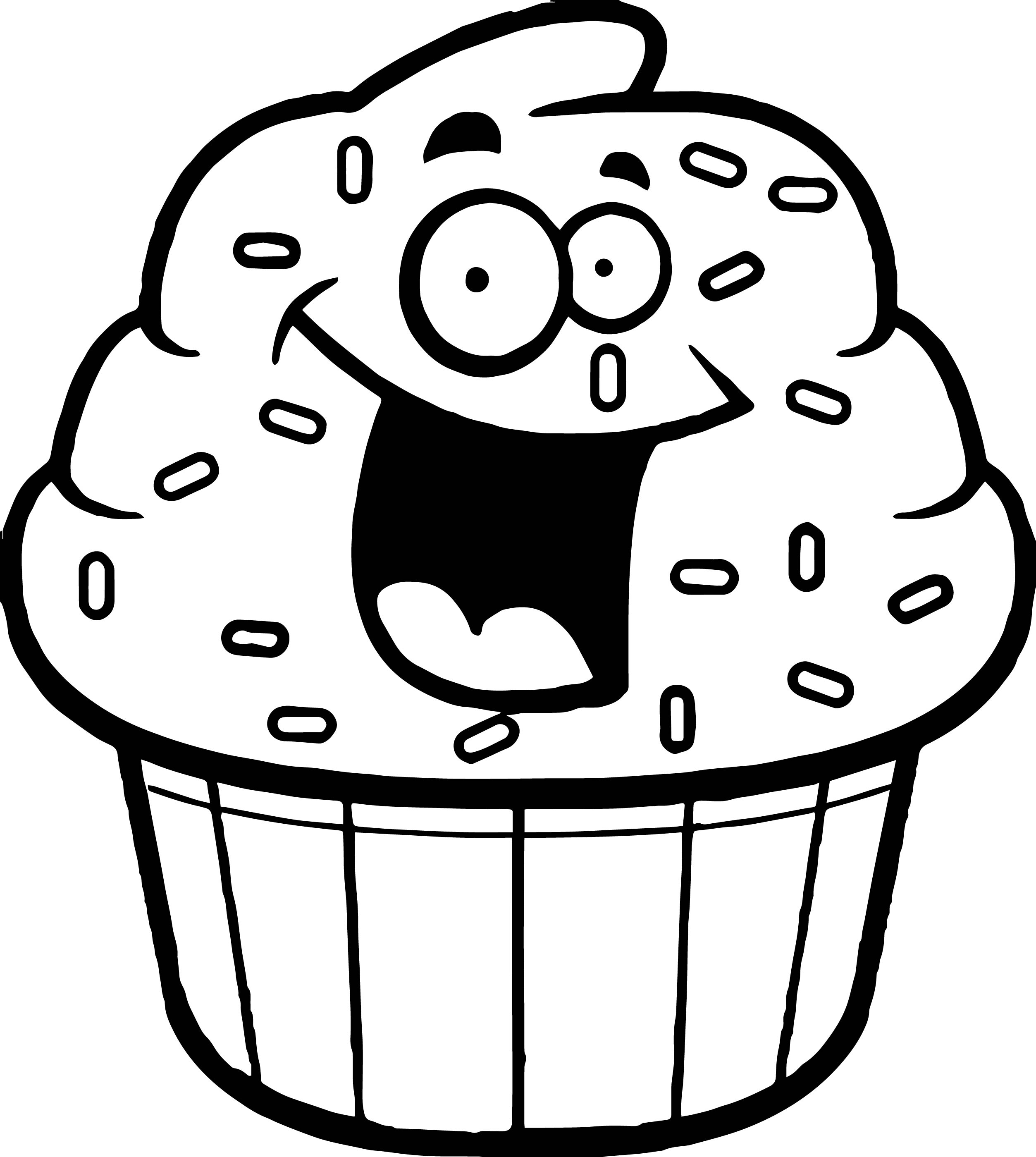 Cupcake outline amazing cartoon cupcake coloring page outline black white
