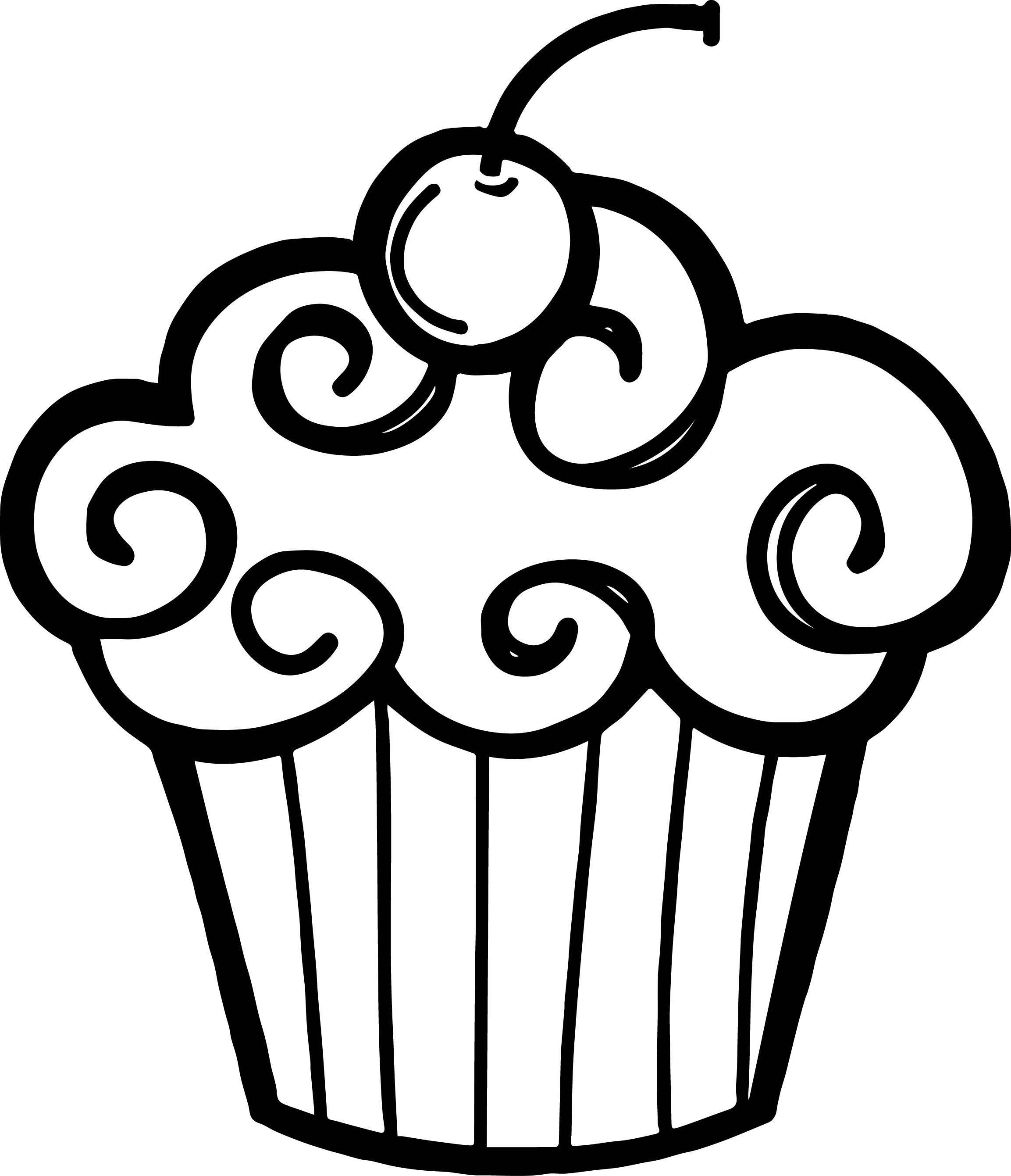 Cupcake outline clip art clipart 2