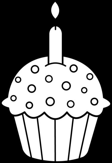 Cupcake outline clip art clipart 3
