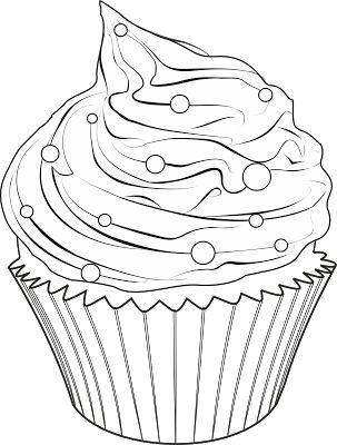 Cupcake outline clip art you are here home graphics food