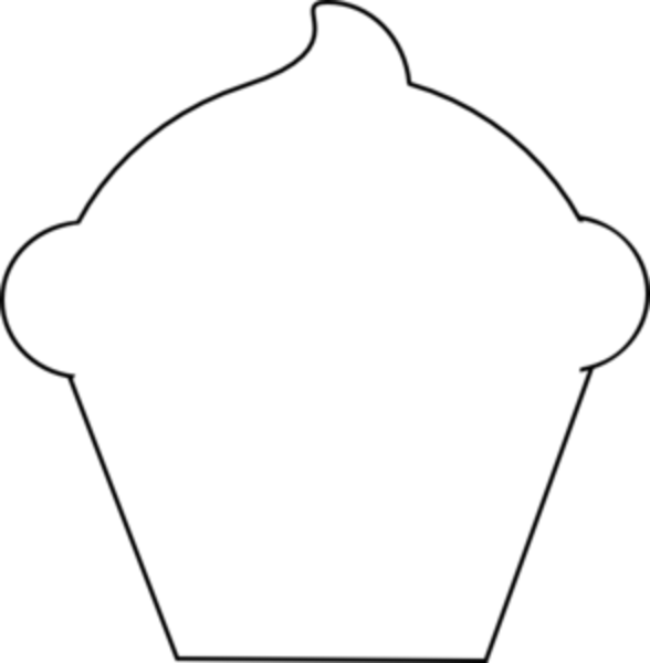 Cupcake outline clipart 7