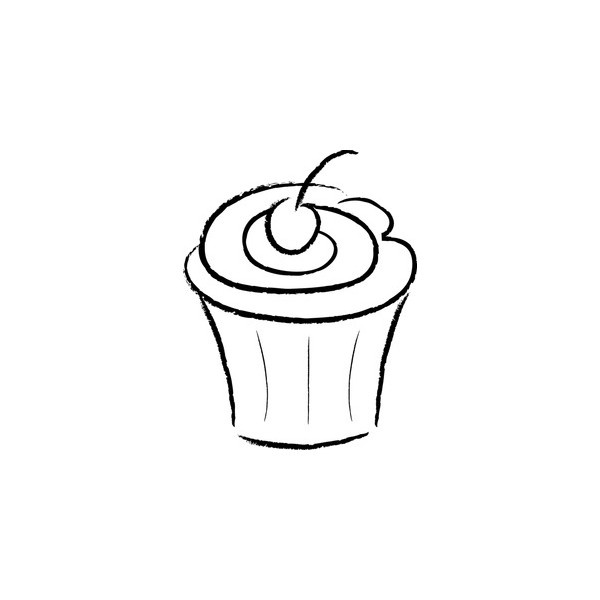 Cupcake outline cupcake black and white cupcake clipart outline clipart