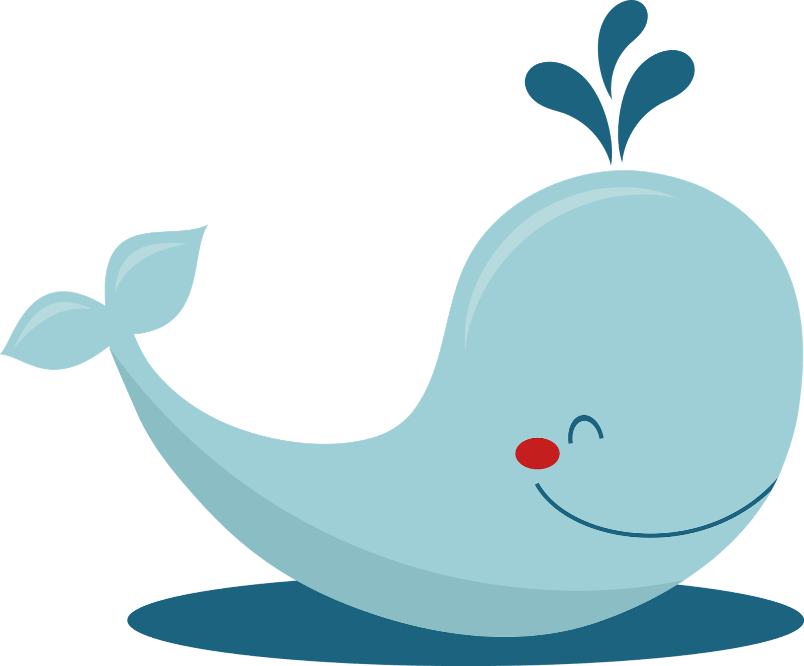 Free baby whale clipart