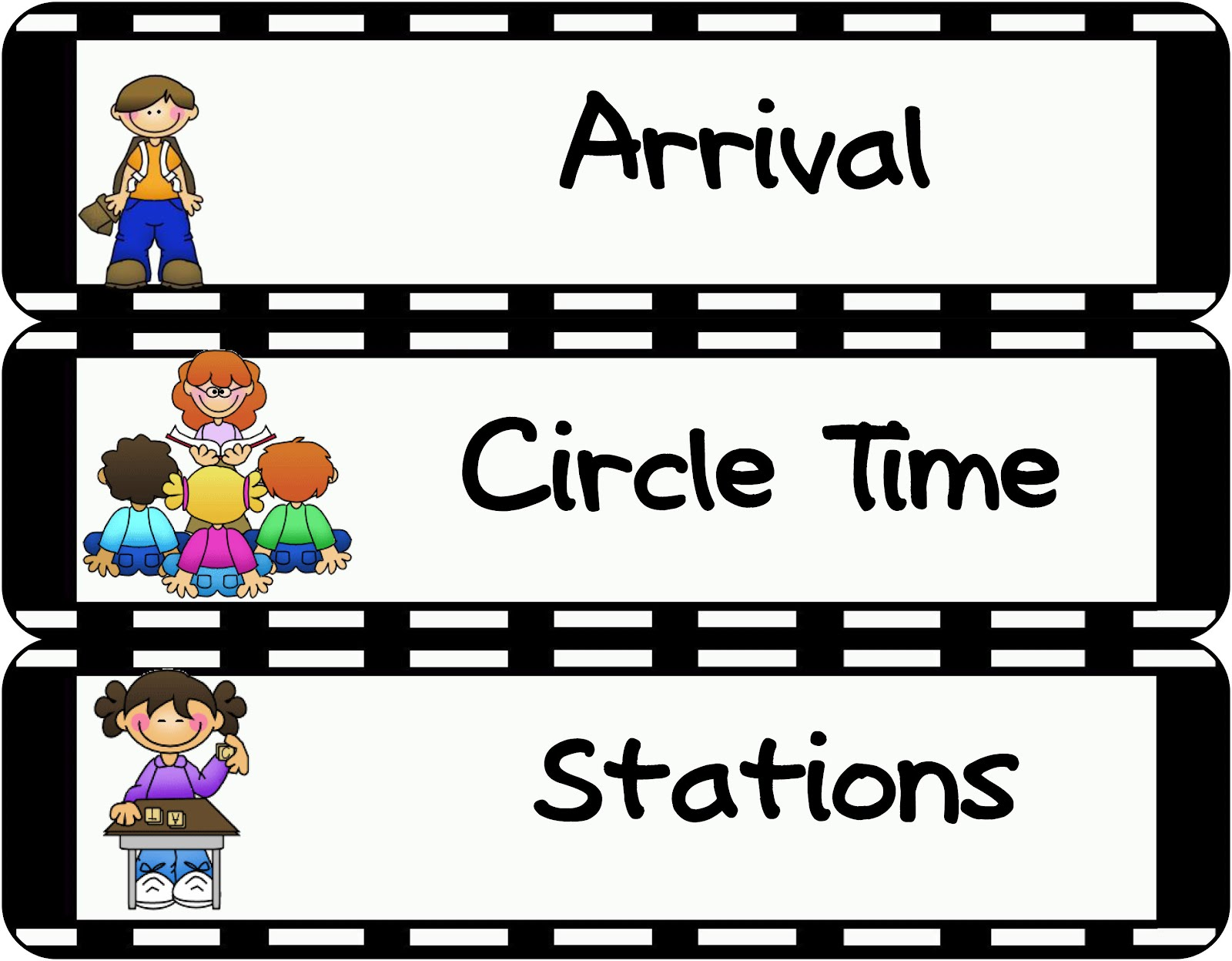 Free circle time clipart 2