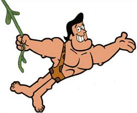 Free george of the jungle clipart 4
