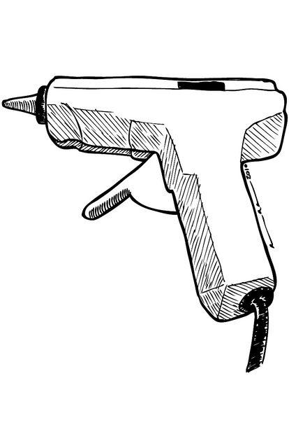 Glue gun stick clip art clipart free download