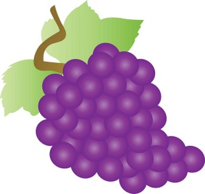 Grapes clipart free images 6