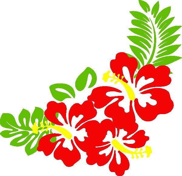 Hawaiian flower clip art borders free clipart images 4