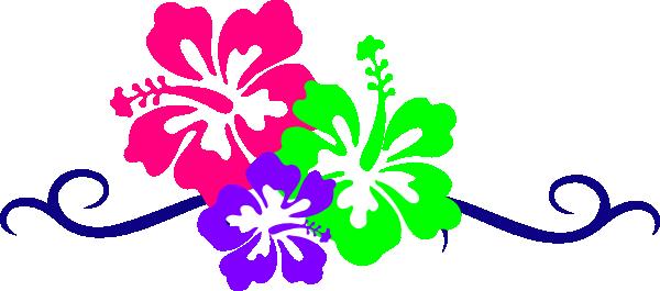 Hawaiian flower clip art borders free clipart images