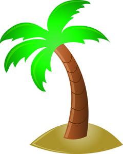 Hawaiian palm tree clip art free clipart images 2