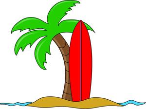 Hawaiian palm tree clip art free clipart images 3