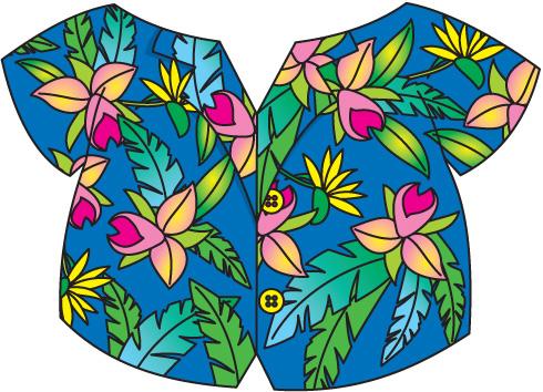 Hawaiian shirt clip art free clipart images 4