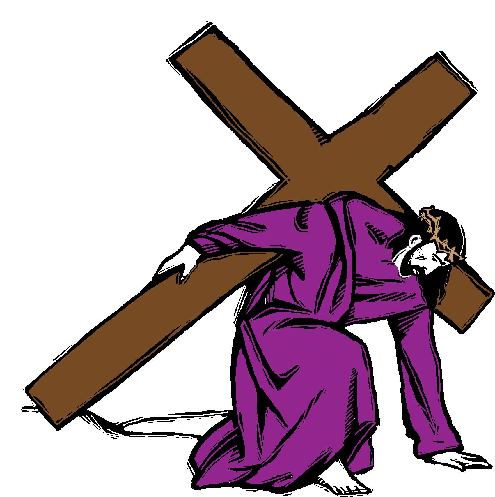 Jesus carrying cross spotlight clipart clipartfox 3