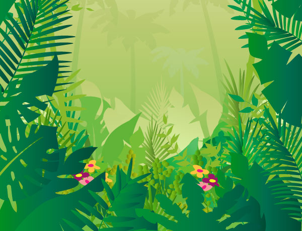 Jungle background clipart