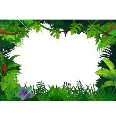 Jungle border clipart 3