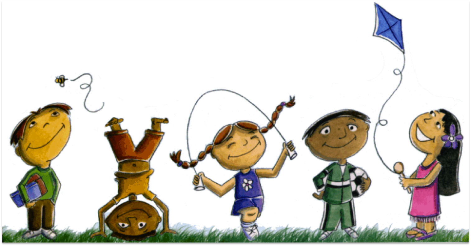 Kids playing clipart 3