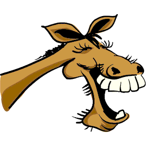 Laughing horse clipart