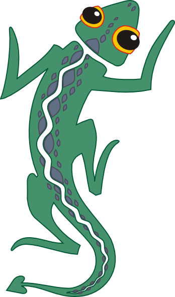Lizard clip art free vector 4vector 2