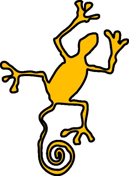 Lizard clip art free vector 4vector