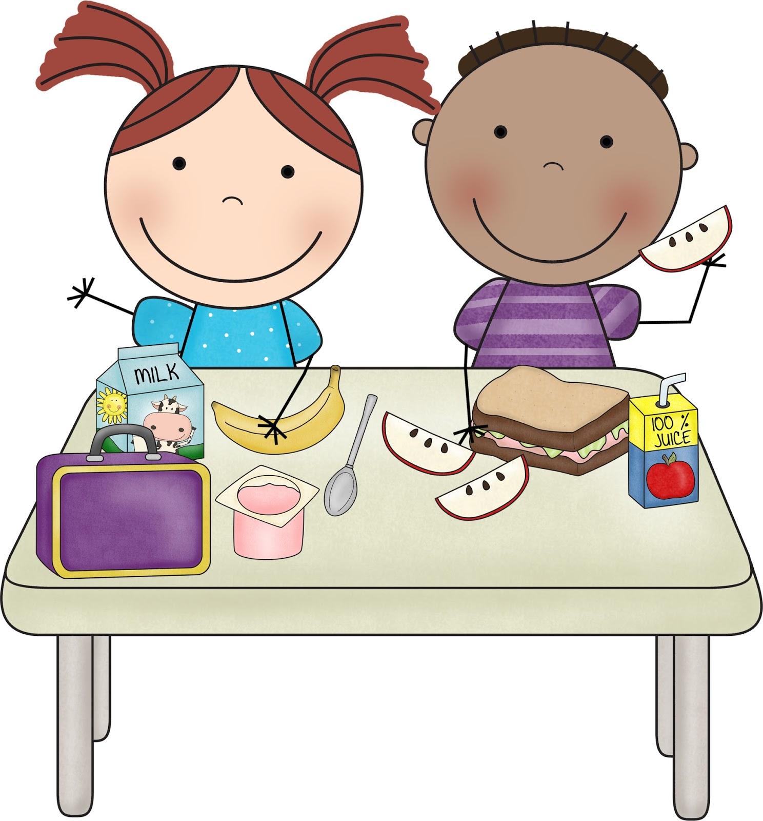 Lunch kindergarten clipart