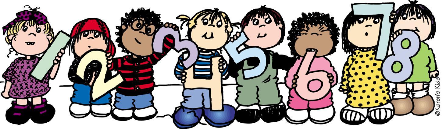 Math clipart for kindergarten