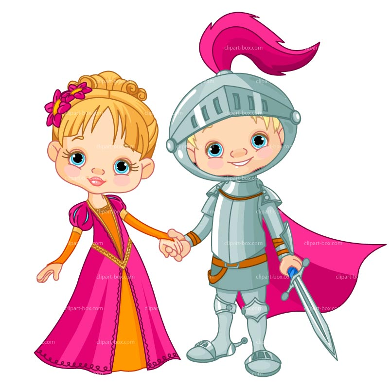 Medieval knight and castle clipart 5
