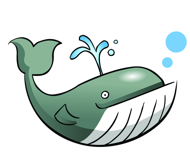 Mom and baby whale clipart 8