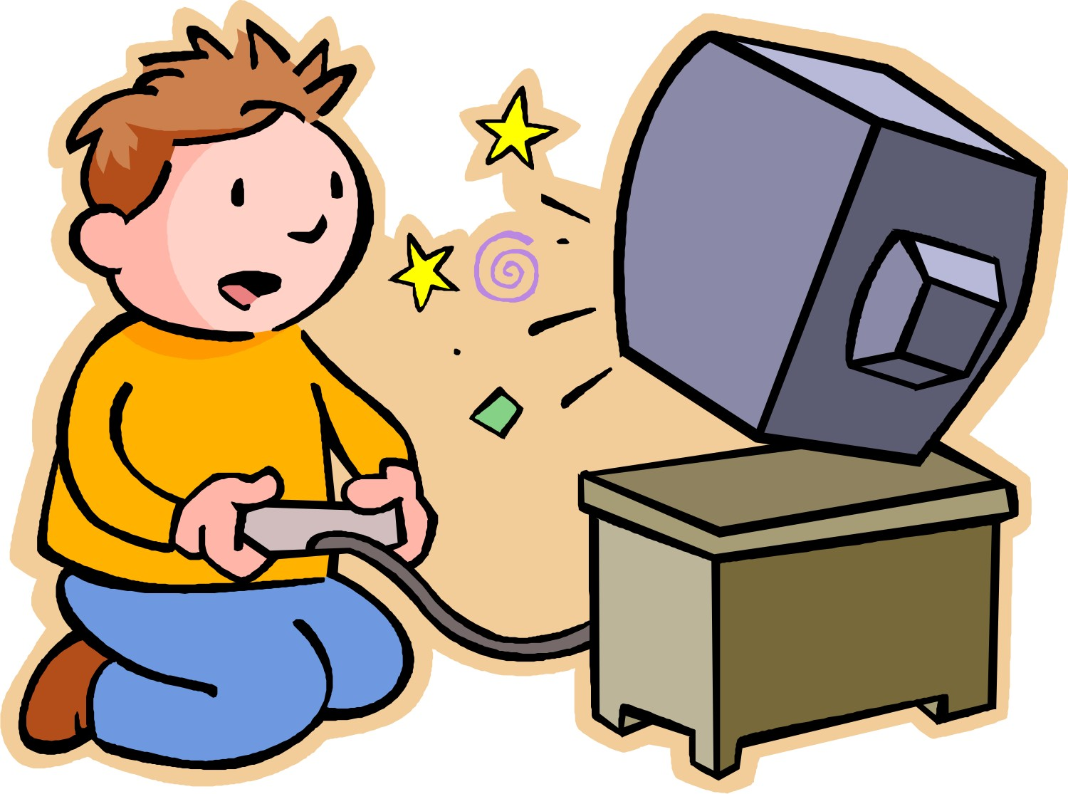 People playing games clipart