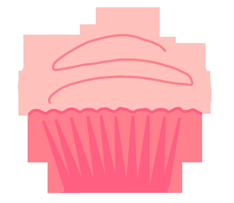Polka dot bottom cupcake outline clipart 3