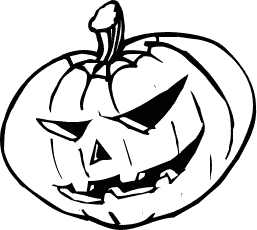 Pumpkin  black and white black and white halloween pumpkin clipart free 3