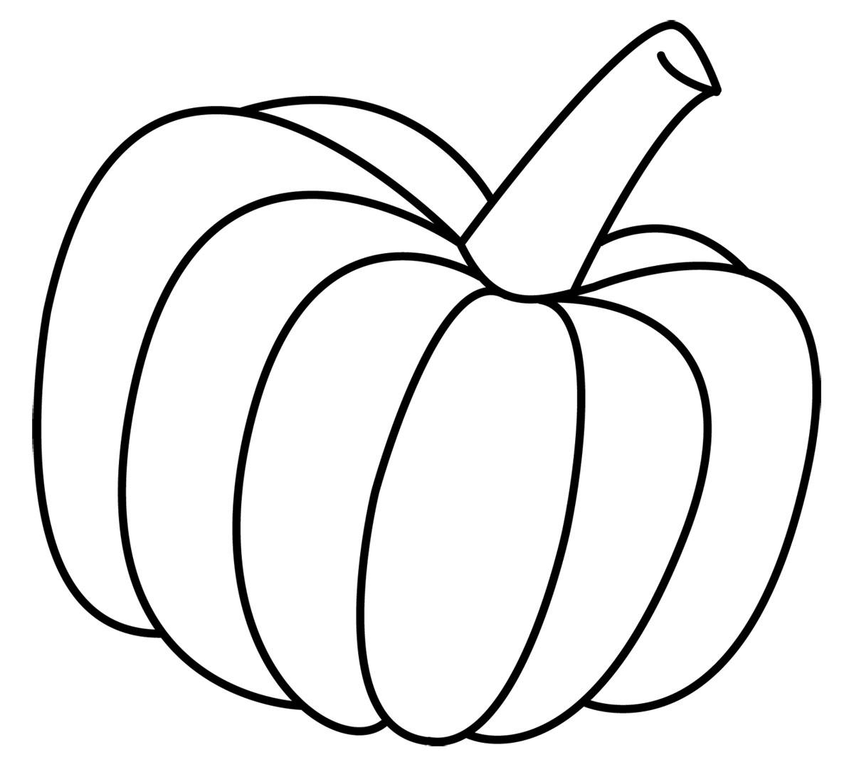 Pumpkin  black and white cute pumpkin black and white clipart