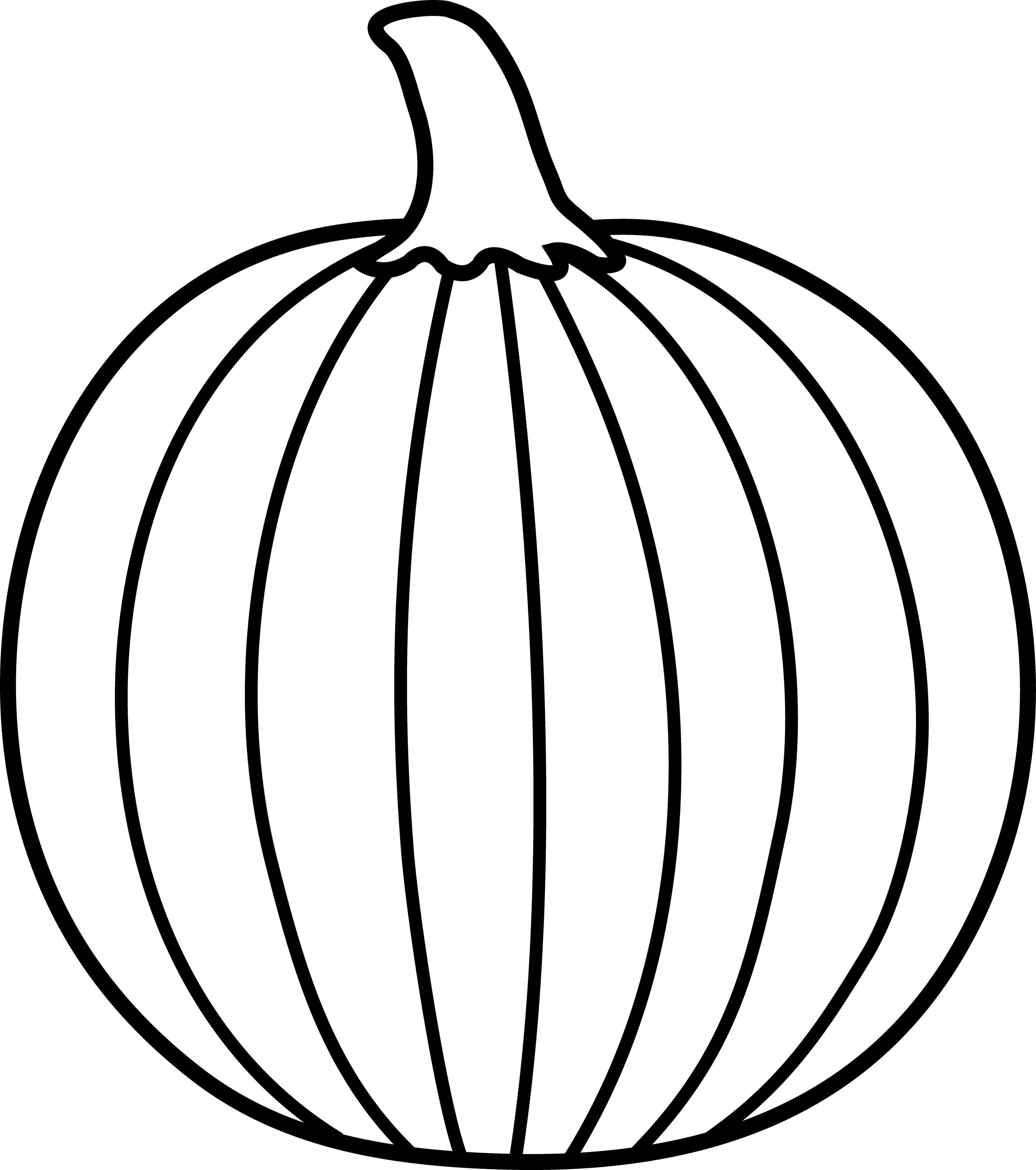 Pumpkin  black and white pumpkin outline clipart black and white free 3